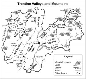 Trentino valleys, lakes, plains, and mountains