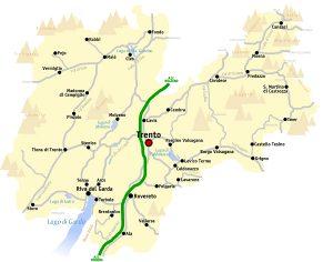 Trentino Map